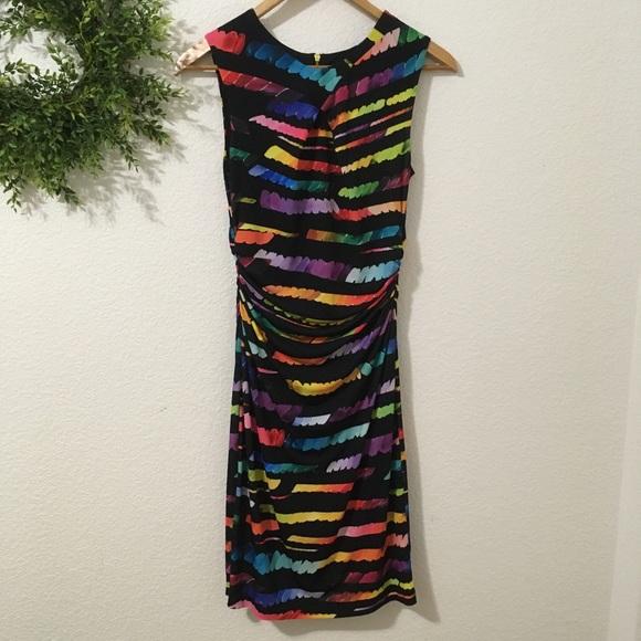Tahari Dresses & Skirts - Tahari Black/Multi Color Sleeveless Dress